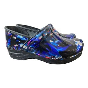 Dansko New Women's Professional Clogs Leather Graphic Floral si…